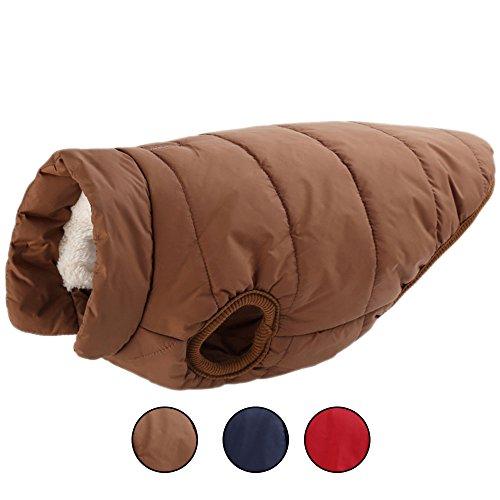 Oncpcare Wintermantel für Hunde und Katzen, Warmer Schneeanzug, Winddicht, Fleece, weich, einfarbig, Hundeweste für Hunde und Katzen