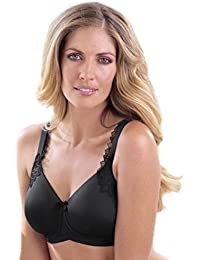 Anita Care 5715X-001 Women's Stella Black Padded Non-Wired Support Coverage Mastectomy Full Cup Bra