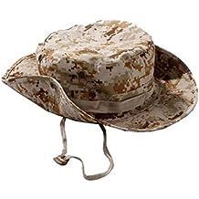 JUNGEN Camuflaje sombrero redondeado protección solar Boone sombrero al aire libre escalada selva hombres mujeres tácticas