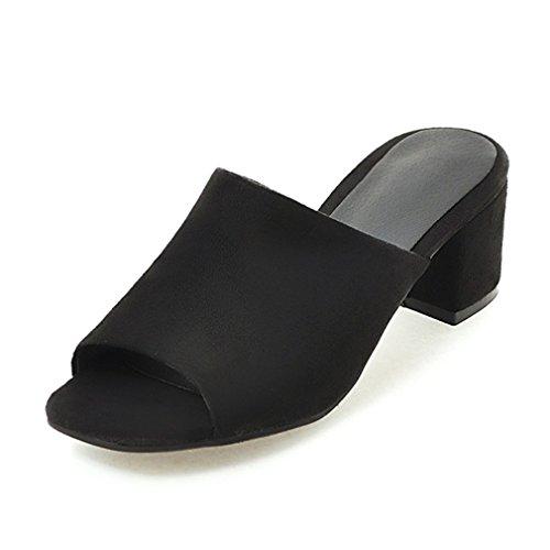 Sommer-beiläufige weiche lederne Absatz-Hefterzufuhren präsente Menge-feste Schuhe Frau-offene Zehe-Flipflops Black 10.5 - Glitter Patent Schuhe