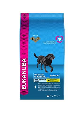 Eukanuba Senior Large Breed Trockenfutter (für ältere Hunde großer Hunderassen ab 7 Jahre, Premiumfutter mit Huhn), 15 kg Beutel