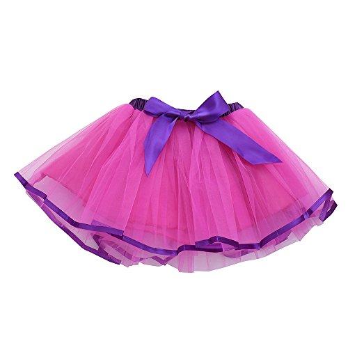 Amphia - Kinderkarneval Tutu - Tutu Rock - Nette Qualität Baby Mädchen Kinder Solide Tutu Ballett Röcke Fancy Party Rock