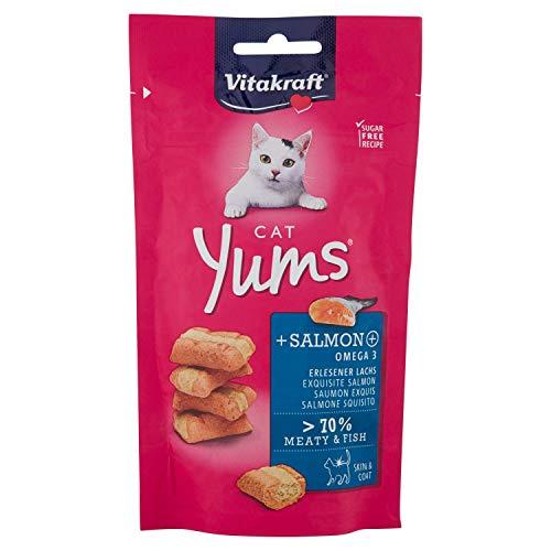 Vitakraft - Cat Yums con Salmone 1 Confezione 40,00 gr