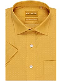 BALISTA MEN's MUSTARD YELLOW FORMAL SHIRT