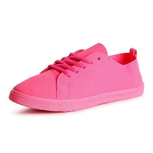 topschuhe24 755 Damen Sneaker Turnschuhe Pink