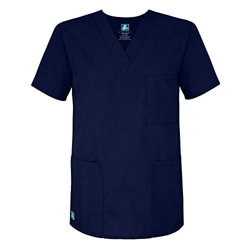 Adar Universal Unisex V-Neck Tunic Top 3 Pockets - 601 - Navy - S (Navy Uniform)