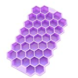 Elistelle 37-Grid Silicone Ice Cube Tray Honeycomb Silicone Ice Mould