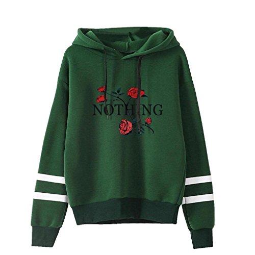 iHENGH Sweatshirt, Damen Druck Lange Ärmel Hoodie Sweatshirt Jumper Kapuzen Pullover Tops Bluse S-XL