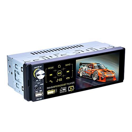 """LHNa Navigation für Auto 4,1""""kapazitiver Touchscreen Hintergrundbeleuchtung mit Sieben Farben Lenkradsteuerung U-Disk/AUX-Wiedergabe Clock- und Mute-Funktion Fernbedienung Bluetooth Autoradio"""