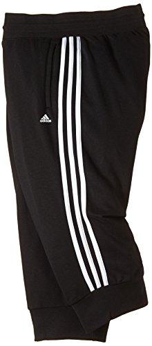 adidas Damen Sporthose Essentials 3-Stripes 3/4 Black/White