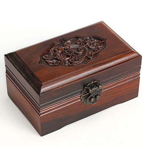 Joyero Chunlan Joyas de Palisandro Artesanía Joyas Coleccionismo Cajas de Almacenamiento