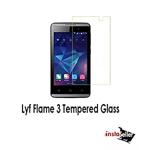 Anti Burst Tempered Glass Screen Guard Protector For Lyf Flame 3
