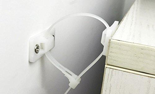 Whchiy 6 Stück wiederverwendbare Nylon-Anti-Kipp-Bänder für Möbel, TV-resistent, bester Schutz für Babys und Kinder
