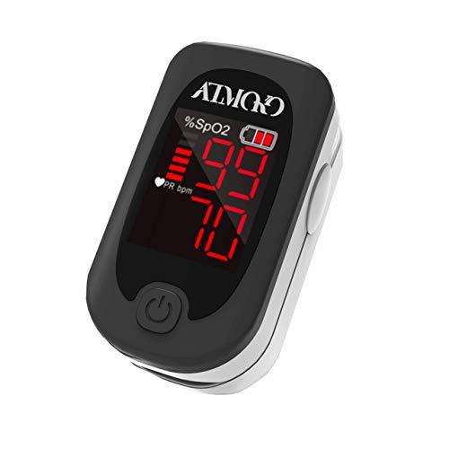 ATMOKO Oxímetro de Pulso, Pulsioxímetro de Dedo Digital con Pantalla LED, Lectura Instantánea,Para el cuidado de la salud familiar