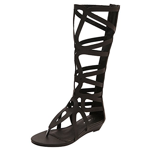 oasap-charming-two-colors-zipper-closure-summer-gladiator-sandals