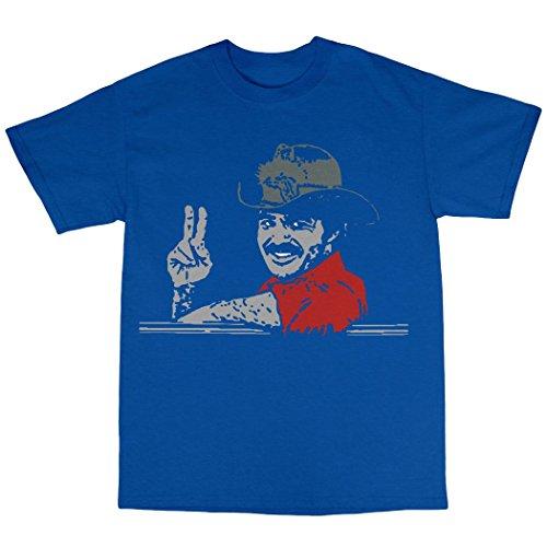 Smokey & The Bandit Inspired T-Shirt 100% Baumwolle Königsblau