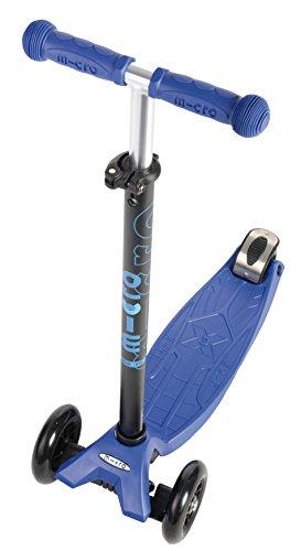 Maxi Micro - Patinete de 3 ruedas con barra T, color azul