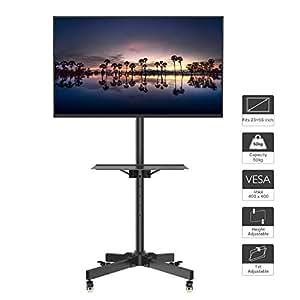 Mobili Televisori Lcd.1home Tv Carrello Staffa Porta Mobile Supporto Stand Spostabile A Pavimento Con Rotelle Piedistallo Per 23 55 Plasma Lcd Led