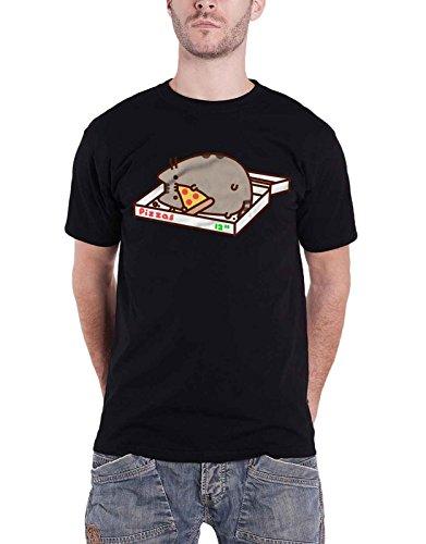 Pusheen T Shirt Pizza Love Logo Nue offiziell Herren