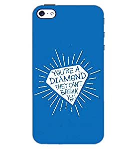 PrintDhaba QUOTE D-6155 Back Case Cover for APPLE IPHONE 4 (Multi-Coloured)