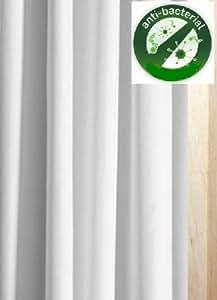 Rideau de douche anti-bactérien en tissu Blanc 240 x 180 cm