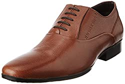 Alberto Torresi Mens Tan Leather Formals Shoes - 6.5 UK