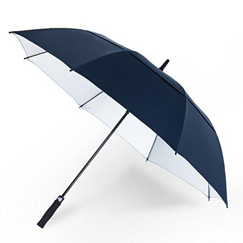 YAPASPT Parapluie de Golf Extra-Large DE 62' avec Protection UV, Coupe-Vent à Double auvent et à...