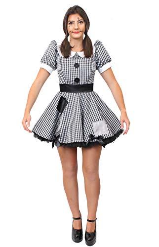 Rag Kostüm Doll Damen - ILOVEFANCYDRESS SEXY Stoff Puppen-RAG-DOLL Kleid KOSTÜM VERKLEIDUNG =Fasching Karneval Halloween Themen Party Frauen =XLarge