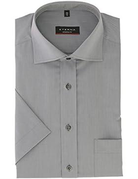 Eterna Herrenhemd Kurzarm Modern Fit Grau Business Businesshemd Elegantes Herren Hemd Hemden Freizeit Baumwolle