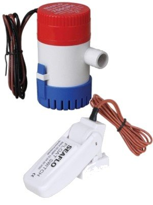 12 Volt 750 GPH elektrische Bilgepumpe mit Schwimmerschalter von Seaflo