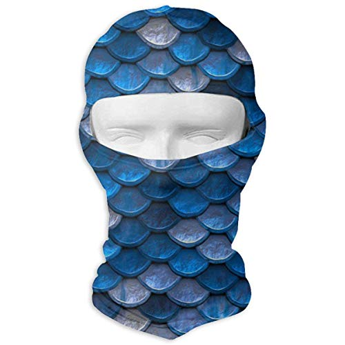 Bikofhd Blue Pastel Mermaid Balaclava Face Mask Hood for Women Men Extra Warmth Hiking Motorcycling Neck Mask