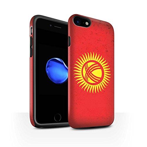 STUFF4 Matte Harten Stoßfest Hülle / Case für Apple iPhone 6 / Georgien/Georgisch Muster / Asien Flagge Kollektion Kirgisistan