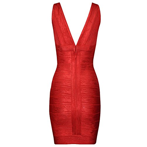 HLBCBG Damen Kleid Gold Blau Gold - Rot