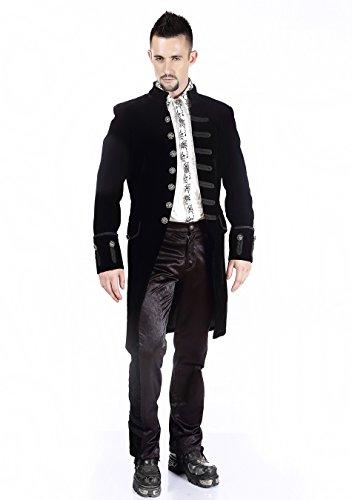 Manteau Homme Velours Aristocrate Victorien Gothique Pentagramme Noir cK1JlT3F