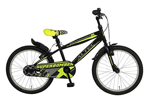 Altec 20 Zoll Kinder MÄDCHEN Fahrrad MÄDCHENRAD MÄDCHENFAHRRAD KINDERFAHRRAD Kinder Rad Bike SUPERBOMBER SCHWARZGELB (20-zoll-fahrräder Kinder Für)