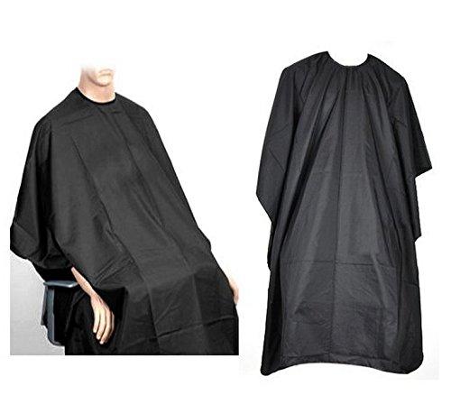 Preisvergleich Produktbild Lsv-8 Friseurumhang Haarschneideumhang Umhang für Salon Haare Schneiden professional einstellbar Haarschneideumhang für Erwachsene Überzug schwarz 145x100cm