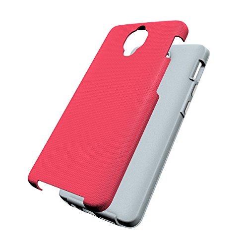One Plus 3 Coque,EVERGREENBUYING Ultra Slim léger 2 en 1 OnePlus 3T Cases Housse Etui de protection Anti-dérapant hybride Cover pour OnePlus 3 Noir Rose