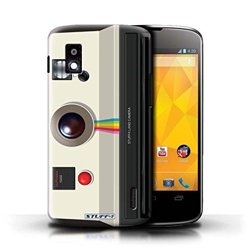 Kobalt® Imprimé Etui / Coque pour LG Nexus 4/E960 / Sportif conception / Série Appareil Photo Instantanée Retro
