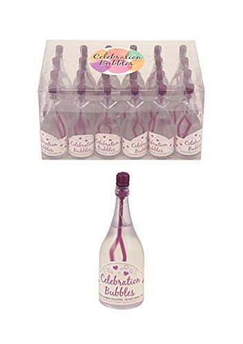 Bubble Bottle Clear& Purple 24