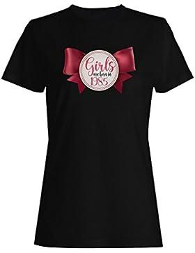 Las muchachas nacen en 1985 la novedad del arco lindo camiseta de las mujeres ll26f