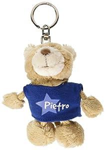 NICI n15895-Llavero Oso con Camiseta Pietro, Azul