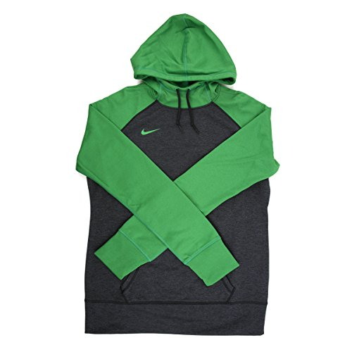 Nike Women's Charcoal/Green Training Hoodie - x Large Nike Womens Thermal