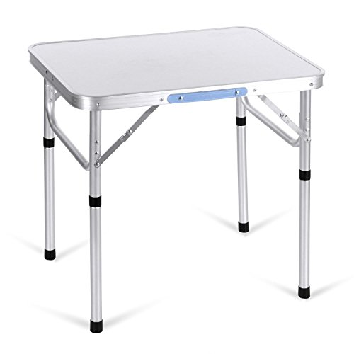 begorey Aluminium Campingtisch Klapptisch Gartentisch klappbar und höhenverstellbar, 60 x 45 x 56...