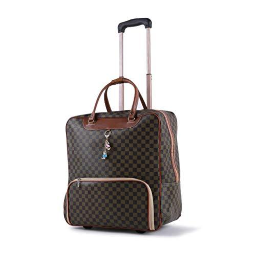 LXIANGP Tragbare Trolley-Tasche 2 in 1 Reisegepäck Reisetaschen Handgepäck Trolley PU Wasserdichter, superleichter, erweiterbarer Koffer mit 2 Rädern Hohe Kapazität (Color : E) (Trolley-set Erweiterbarer)