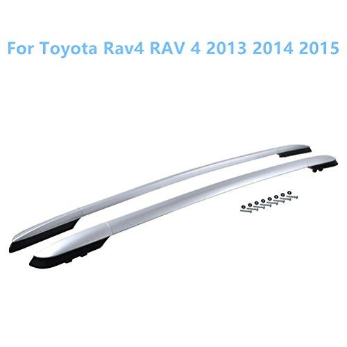 Aleación de aluminio + Plástico Barra portaequipajes techo portaequipajes para RAV4 Cuarta...