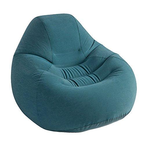 TOPQSC Beflockendes luxuriöses einzelnes aufblasbares Sofa plus faules Knochensofa der Rückseite (Liegende Wohnzimmer Sofa)