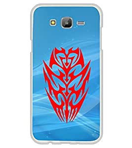 Fuson Premium Tattoo Metal Printed with Hard Plastic Back Case Cover for Samsung Galaxy J7