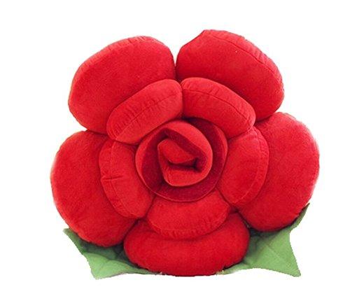 Cuscino grande a forma di rosa, per decorare la casa, il divano o l'auto, con soffice imbottitura, regalo per gli amanti dei giocattoli, cotone, red, 30 cm