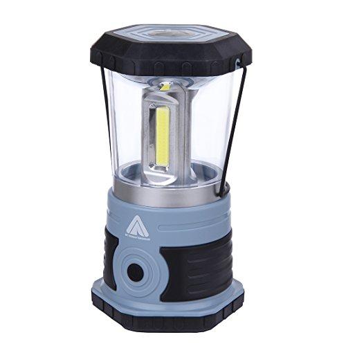 10T HPL 800 - helle Camping-Lampe mit 800 Lumen   3 Cob LED   15 Watt (3x5)   700 g   Laterne   blau - Stahl Outdoor-lampe