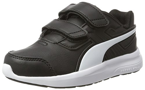 Puma Escaper SL V PS, Scarpe Running Unisex - Bambini, Nero Black-White, 29 EU
